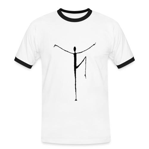 Yoga-Mann - Männer Kontrast-T-Shirt