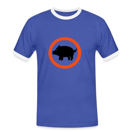 Sika irti! T-paita - Miesten kontrastipaita
