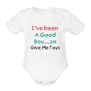 Ive been a good boy Grow White - Organic Short-sleeved Baby Bodysuit