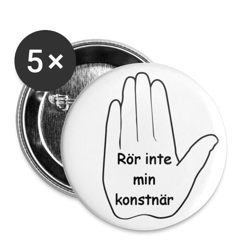 Rör inte min konstnär - Mellanstora knappar 32 mm (5-pack)