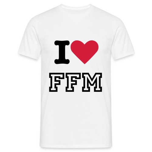 I LOVE FFM MALE I - Männer T-Shirt