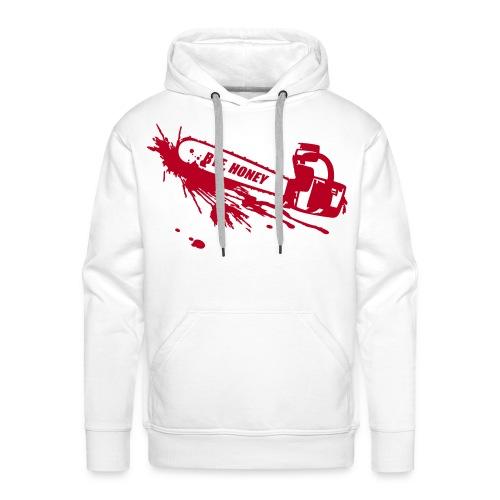 BYE, HONEY! men's hoodie white - Männer Premium Hoodie