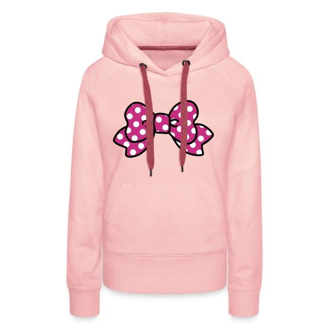CUTE RIBBON hoodie pink