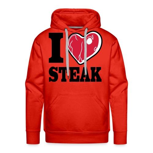 I LOVE STEAK men's hoodie - Männer Premium Hoodie