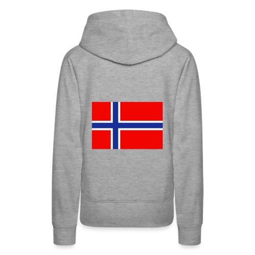 hettegenser med norge flagg på ryggen til dame og herre - Premium hettegenser for kvinner