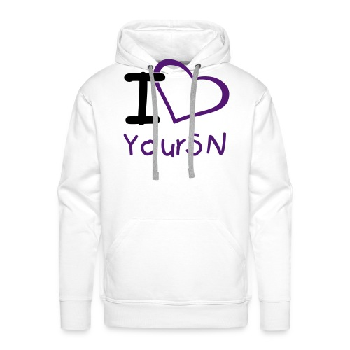 Pullover I Love YourSN - Männer Premium Hoodie
