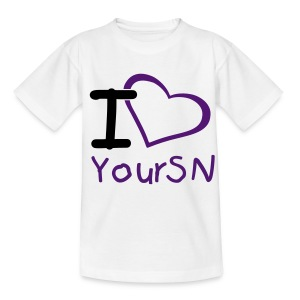 T-Shirt I Love YourSN Kids - Teenager T-Shirt