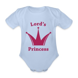 Lord's Princess (baby one piece) - Organic Short-sleeved Baby Bodysuit