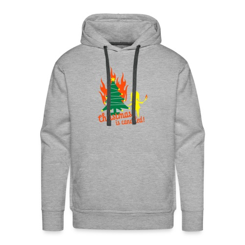No Christmas (voor en achterkant) - Mannen Premium hoodie