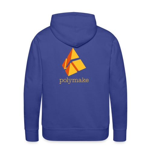polymake men's hoodie (orange) - Men's Premium Hoodie