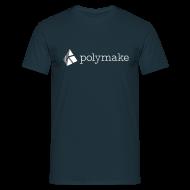 T-Shirts ~ Men's T-Shirt ~ polymake men's t-shirt (white/grey)