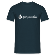 T-Shirts ~ Men's T-Shirt ~ polymake men's t-shirt (white/grey)