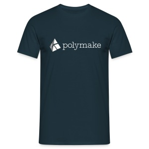 polymake men's t-shirt (white/grey) - Men's T-Shirt