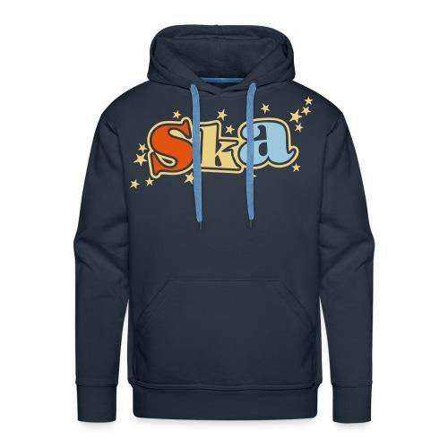 Ska-Kapuzenpullover mit Sternen II 3farbiger Druck - Männer Premium Hoodie