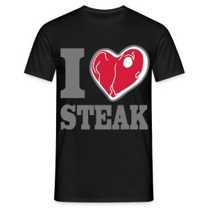 I LOVE STEAK men's classic fit - Männer T-Shirt