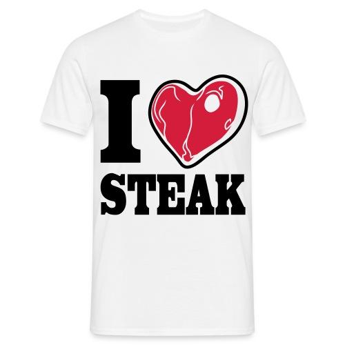 I LOVE STEAK men's classic fit - Männer T-Shirt