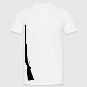 Sniper sniper rifle wapen machinegeweer T-shirts - Mannen T-shirt