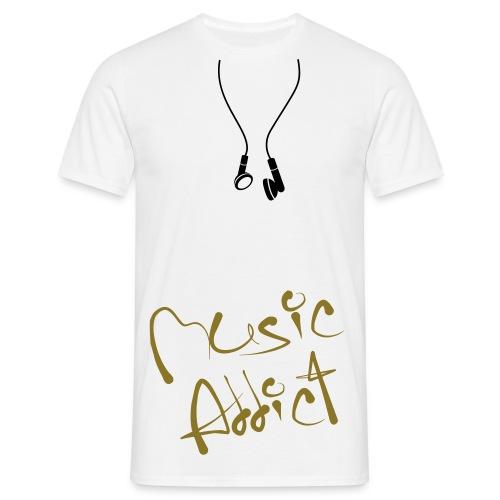 t-shirt homme music addict - T-shirt Homme