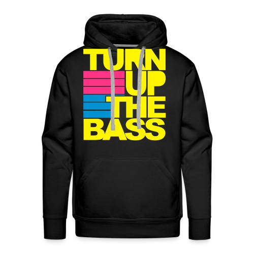Turn up the bass BLACK HOOD - Men's Premium Hoodie