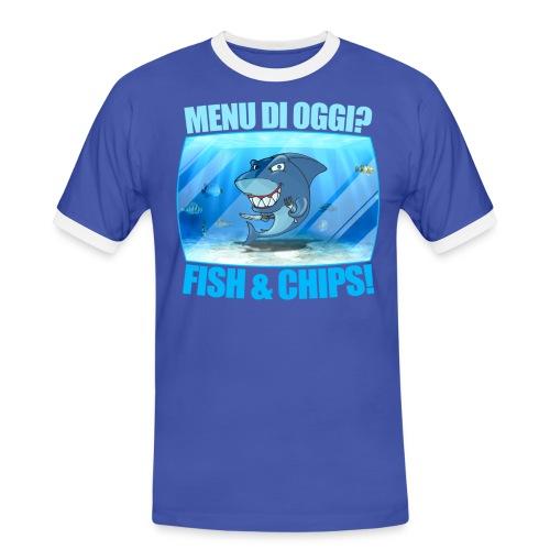 T-shirt manica corta Fish and Chips - Maglietta Contrast da uomo