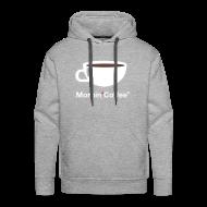 Felpe ~ Felpa con cappuccio premium da uomo ~ MORNIN' COFFEE HOODIE