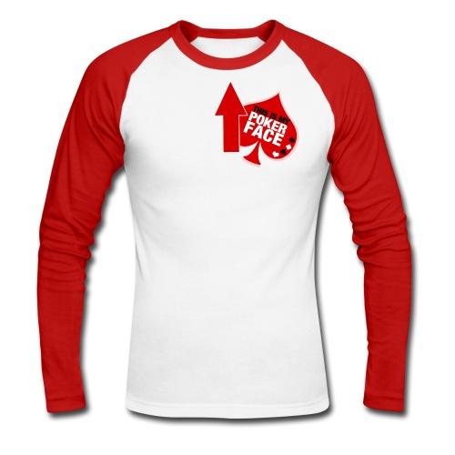 T-shirt manica lunga Faccia da Poker - Maglia da baseball a manica lunga da uomo