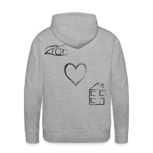 Eye Luv - Men's Light Hoodie - Men's Premium Hoodie