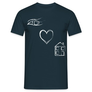 Eye Luv - Men's Classic Dark T-Shirt - Men's T-Shirt