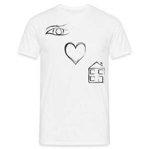 Eye Luv - Men's Classic White T-Shirt - Men's T-Shirt