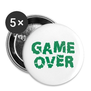 Anstecker Game Over - Buttons klein 25 mm