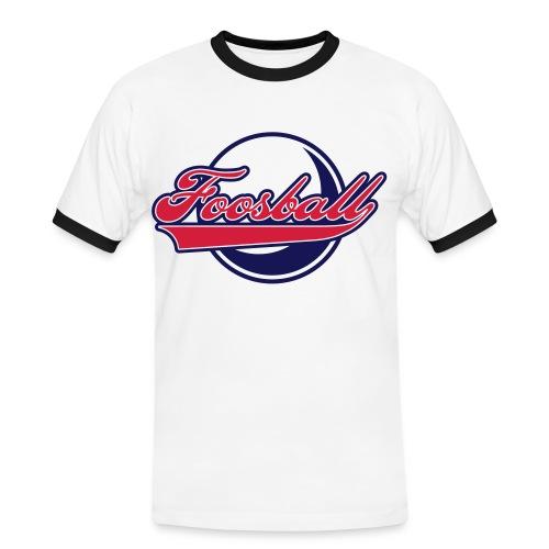 Boy Foosball Retro T-Shirt - Männer Kontrast-T-Shirt