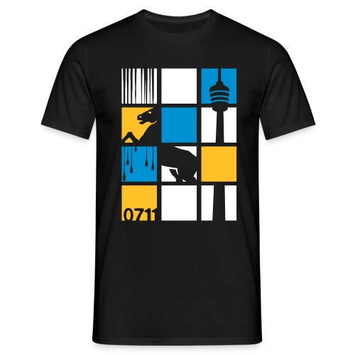 0711 SQUARES - Männer T-Shirt
