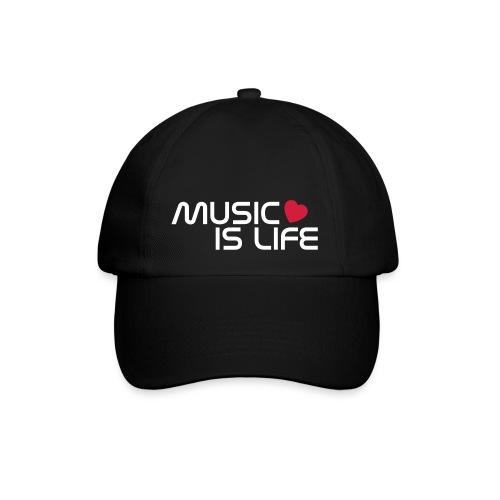 Gorra negra con print - Gorra béisbol