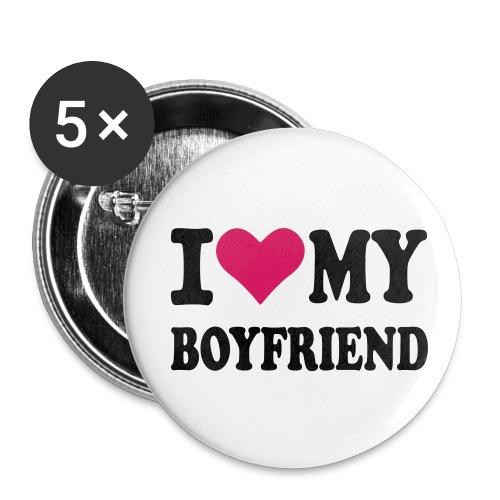 Chapa Boyfriend - Paquete de 5 chapas medianas (32 mm)
