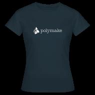 T-Shirts ~ Women's T-Shirt ~ polymake women's t-shirt (white/grey)