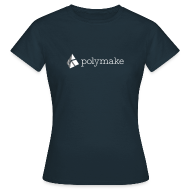 T-Shirts ~ Women's T-Shirt ~ polymake women's t-shirt (white/grey)