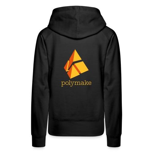 polymake women's hoodie (orange) - Women's Premium Hoodie