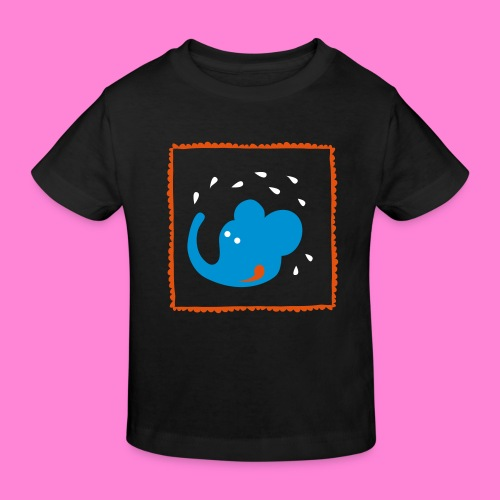 Happy elephant - Kinderen Bio-T-shirt