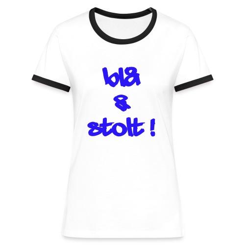 Blå og Stolt 2010 - 020 - Kontrast-T-skjorte for kvinner