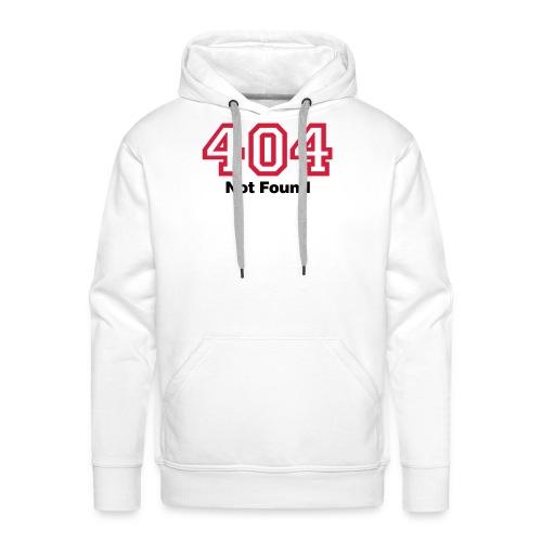 404 Hoodie - Herre Premium hættetrøje