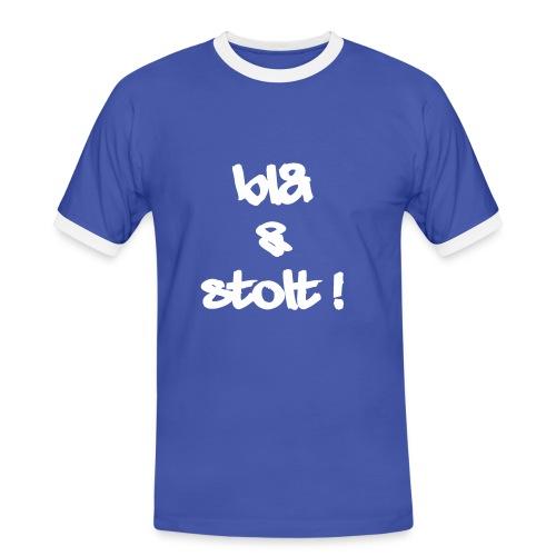 Blå og Stolt 2010 - 025 - Kontrast-T-skjorte for menn