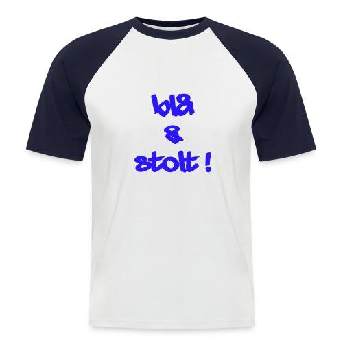 Blå og Stolt 2010 - 031 - Kortermet baseball skjorte for menn