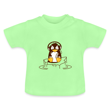 Penguin is listening to music Baby Shirts