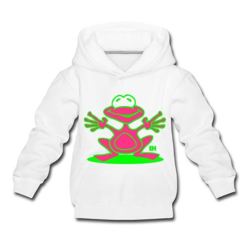 T-Shirt Bimba Rana - Felpa con cappuccio Premium per bambini