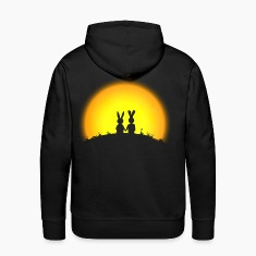 bunny bunnies hare rabbit date sunset Hoodies & Sweatshirts