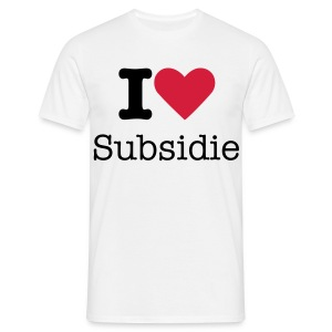 I LOVE SUBSIDIE - Mannen T-shirt