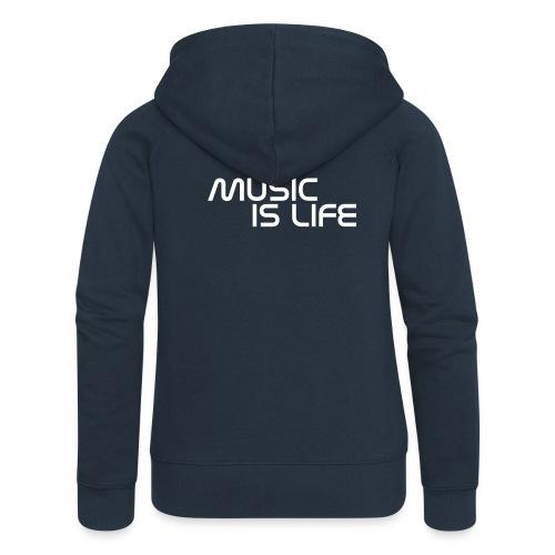 Kaputzenpullover Frauen Music is Life - Frauen Premium Kapuzenjacke