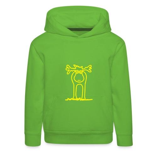 Lustiger Elch oder Rentier? - Kinder Premium Hoodie