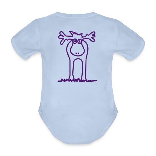Lustiger Elch oder Rentier? - Baby Bio-Kurzarm-Body