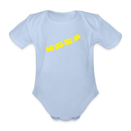 body dziecięce, 0 - 18  miesięcy, pociąg - Ekologiczne body niemowlęce z krótkim rękawem
